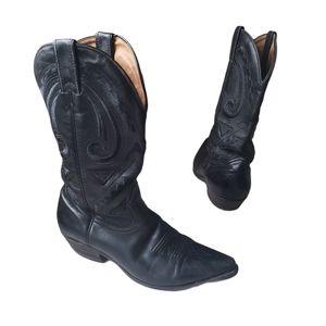 BOULET Black Cowboy Boots  size 7.5 Men